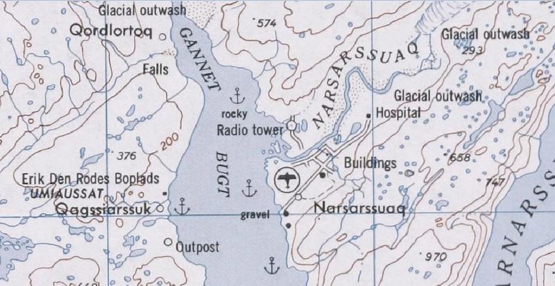 Traversée d'Qassiarsuk vers Narsarsuaq, Kujalleq au Groenland. Kart210