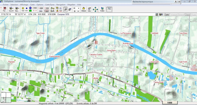 oziexplorer - OziExplorer et ses liaisons cartographiques Surina14