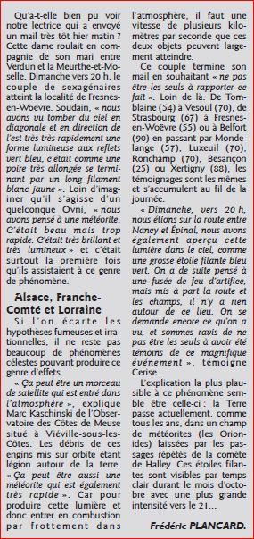 Un phénomène  la nuit dernière dans le ciel de l'Est de la France:météorite - Page 2 Objet_10