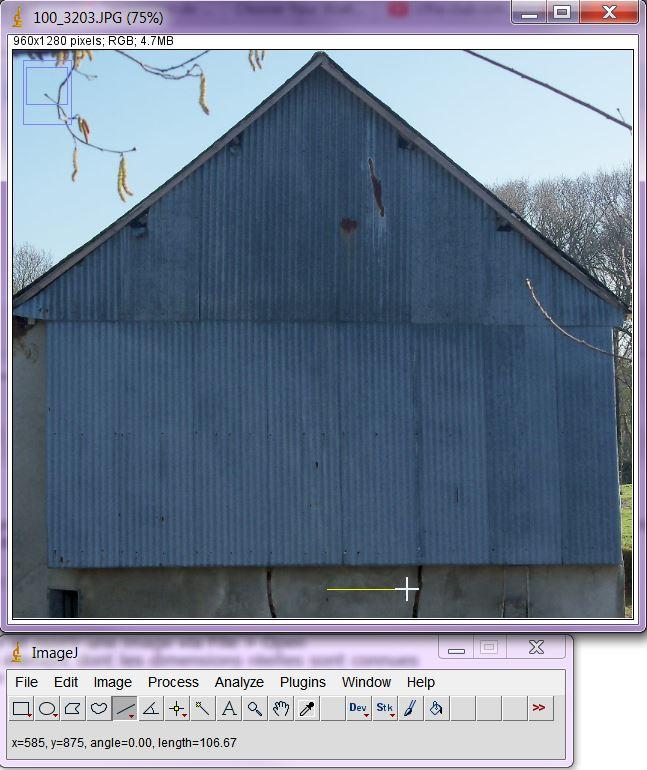 Logiciel pour calculer des distances/surfaces sur une image Imagej10