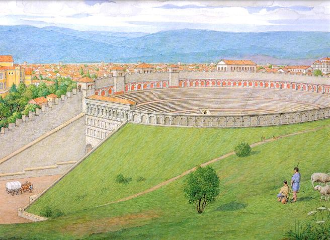 """Amphithéâtres romains : """"Panem et circenses"""" - Page 2 Amphit11"""