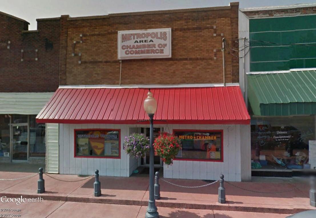 """Métropolis """"ville natale de Superman"""", Illinois, USA Commer10"""