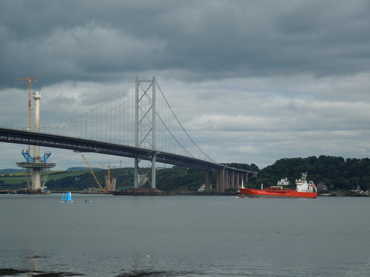 [Désormais visible sur Google-Earth] - Le 3ème pont de Queensferry en Ecosse (Queensferry Crossing)) Dscn2810