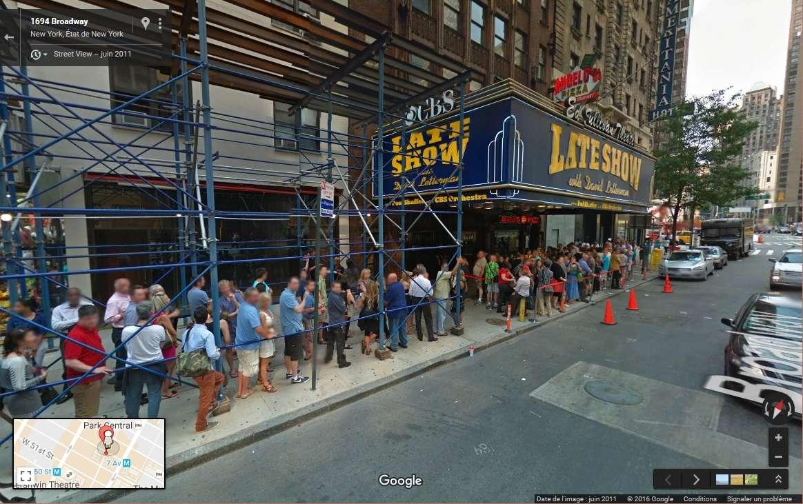 STREET VIEW : The Late Show, enregistré à l'Ed Sullivan Theater de New York Late_s13