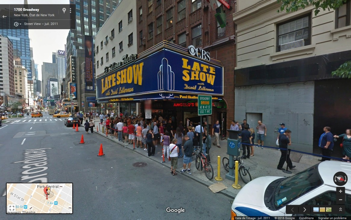 STREET VIEW : The Late Show, enregistré à l'Ed Sullivan Theater de New York Late_s14