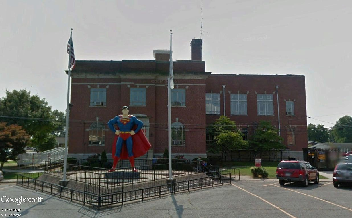 "Métropolis ""ville natale de Superman"", Illinois, USA Superm12"