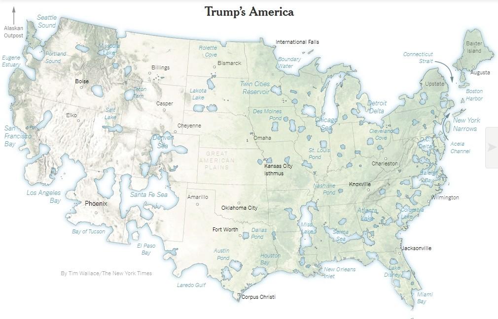 Les Etats-Unis de 2016 : les nouvelles cartes d'un pays divisé Trumpe10