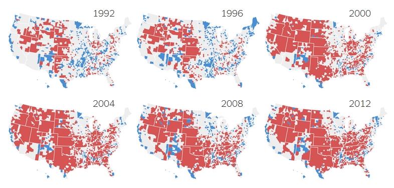 Les Etats-Unis de 2016 : les nouvelles cartes d'un pays divisé Usa_di10