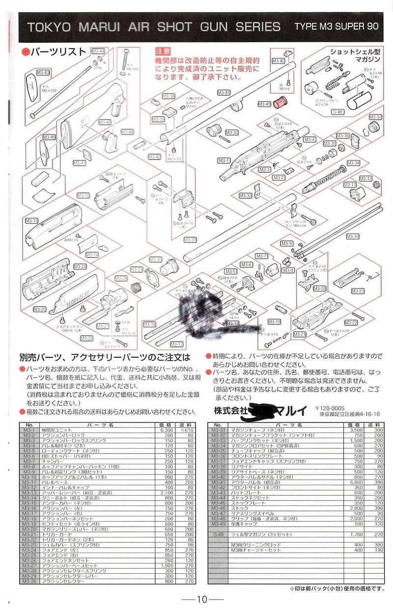 Réparation M3 Super 90 Marui (Shotgun, spring) Eclaty11