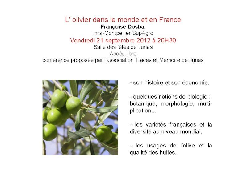 Conférence : l'olivier dans le monde et en France 20120910
