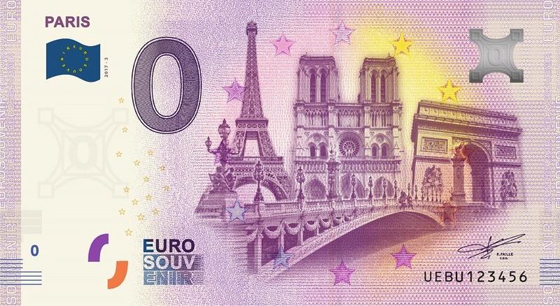 Billets 0 € Souvenirs  [Paris = 81] 2017pa10