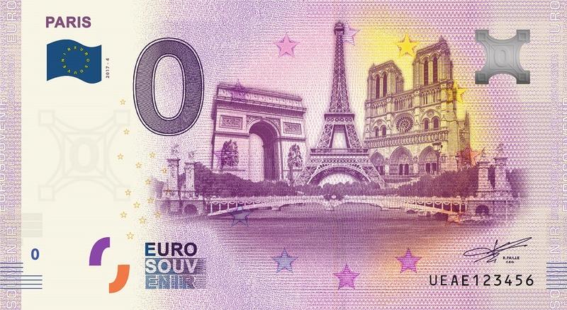 Billets 0 € Souvenirs  [Paris = 81] 2017pa11