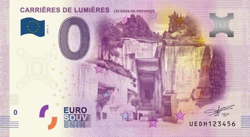 Billets 0 € Souvenirs  [SUD = 62] Baux10