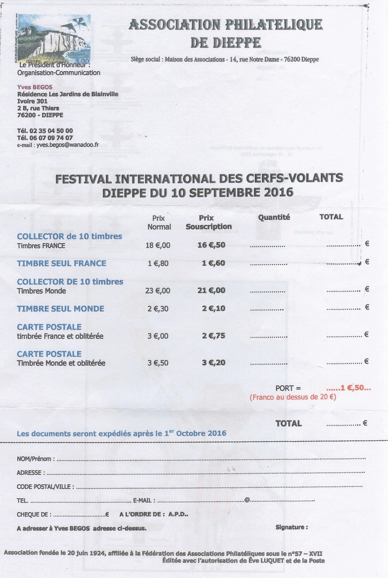 76 - Dieppe - Capitale du Cerf-Volant Cerfs10