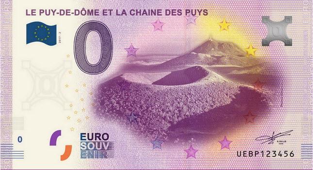 Billets 0 € Souvenirs  = 40  Puydom10