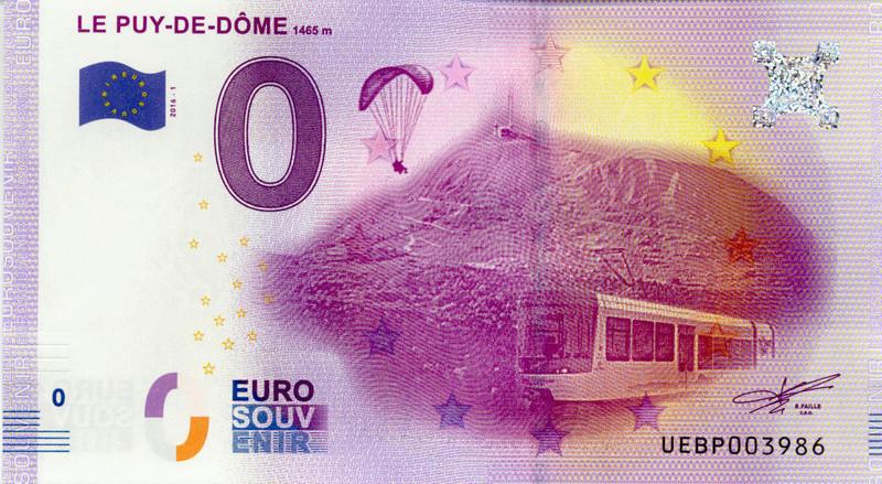 Billets 0 € Souvenirs  = 40  Puydom11