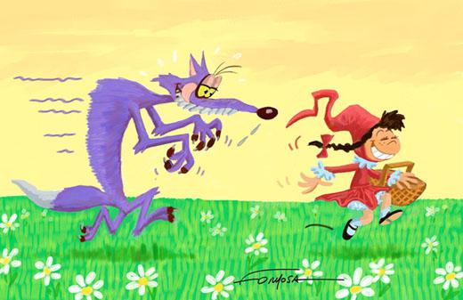 La véritable histoire du Petit Chaperon Rouge en images Chaper13
