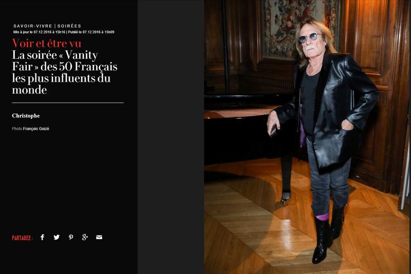Christophe au dîner Vanity Fair des 50 Français les plus influents du monde  Captur15