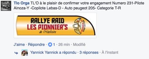 205 Grand Raid N° 205 - Rallye des Pionnier's 2017 Captur17