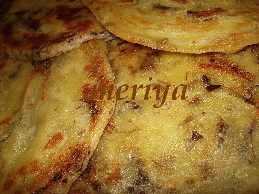 Melloui ou Malloui marocain au Khli3 de Mekness / / Crêpe feuilletée marocaine farci au 5li3  étape en étape en photos 710