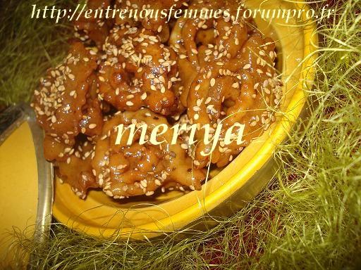 Chbakiya ou Chabbakia ou L'm5ar9a ou L'mkharka ou Grewich marocaine 9f10