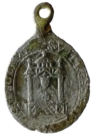 Medalla de San Amable / Relicario de Billion s. XVIII Nd_du_12