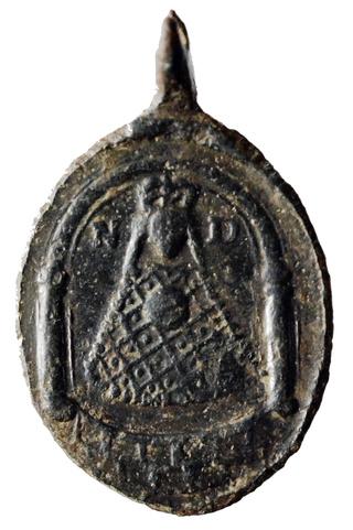 Medalla de San Amable / Relicario de Billion s. XVIII Prycie10