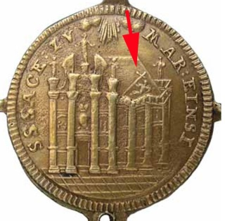 Medaille de l'abbaye d'Einsiedeln (Suisse), XVII-XVIII 1252_x10