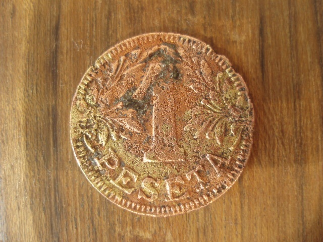1 peseta P.Monserrat de Ciudadela (Menorca) Peseta13