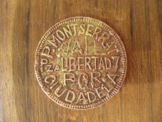 1 peseta P.Monserrat de Ciudadela (Menorca) Peseta14