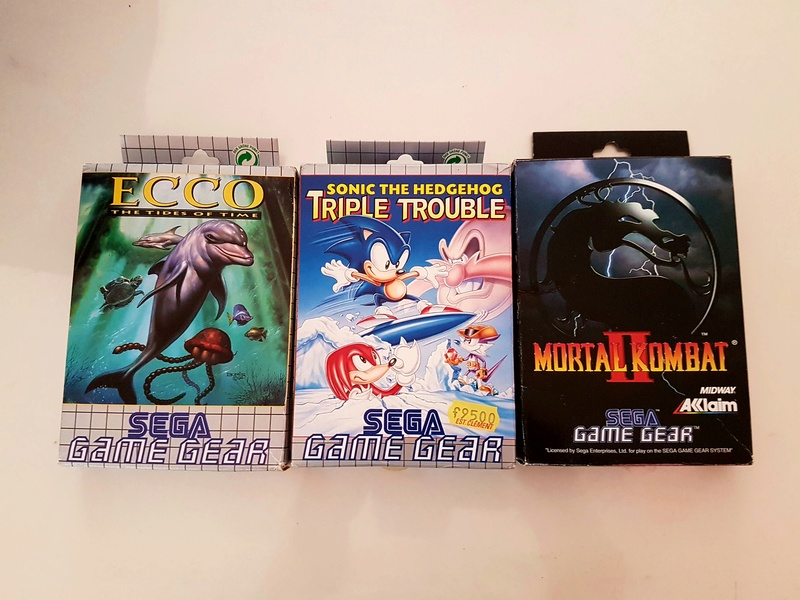 [EST] Lot Game Gear Console en Boîte +  25Jeux....Jeux Dreamcast 20161221