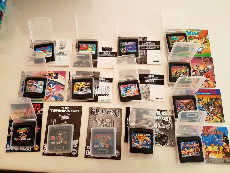[EST] Lot Game Gear Console en Boîte +  25Jeux....Jeux Dreamcast 20161223