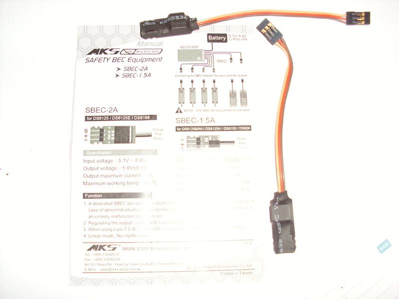 Bec linéaire 1.5A - 5.0V - Mks  pour Servos. Mks13
