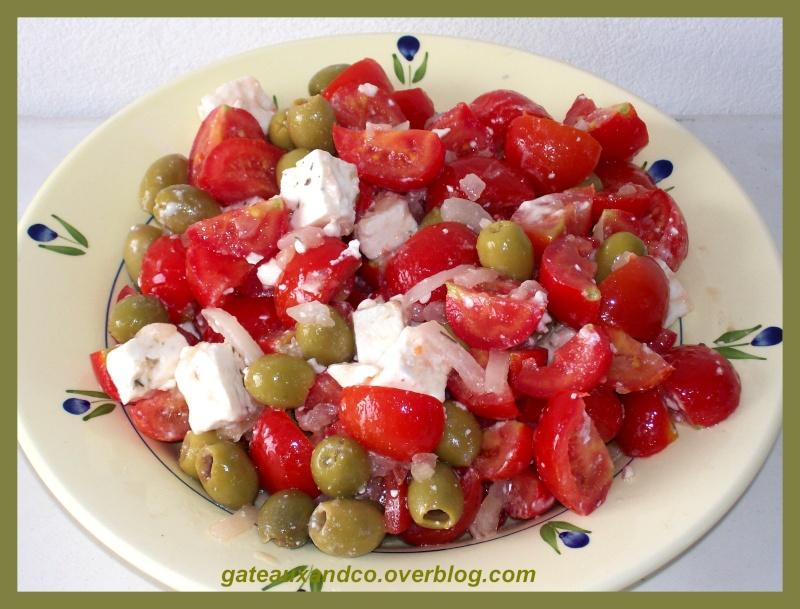 salade de tomates à la féta 00111