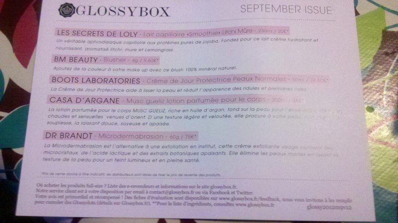 "[Septembre 2012] Glossybox ""September Issue"" V012_s11"