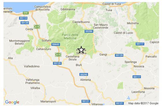 Terremoto di magnitudo 3.5 del 29-01-2017 ore 11:20:24 (UTC) in provincia/zona Palermo Terrem11