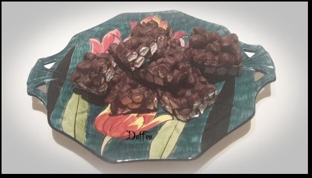 Carrés au Chocolat &Guimauve ( 3 ingrédients) Valant10