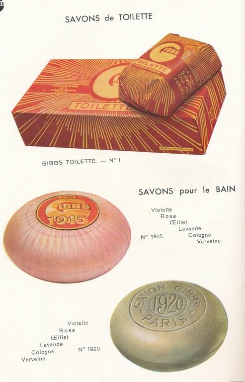 Les produits de toilettes, dont la célèbre marque Gibbs Catalo10