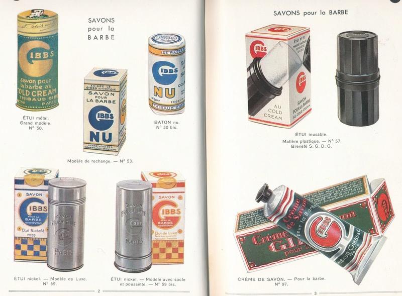 Les produits de toilettes, dont la célèbre marque Gibbs Catalo12