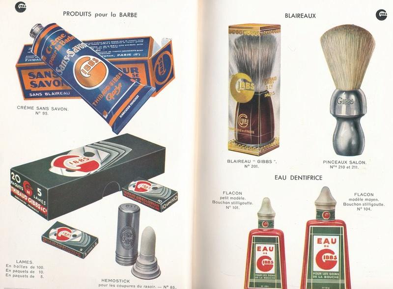 Les produits de toilettes, dont la célèbre marque Gibbs Catalo13