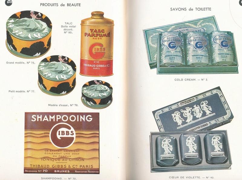 Les produits de toilettes, dont la célèbre marque Gibbs Catalo15
