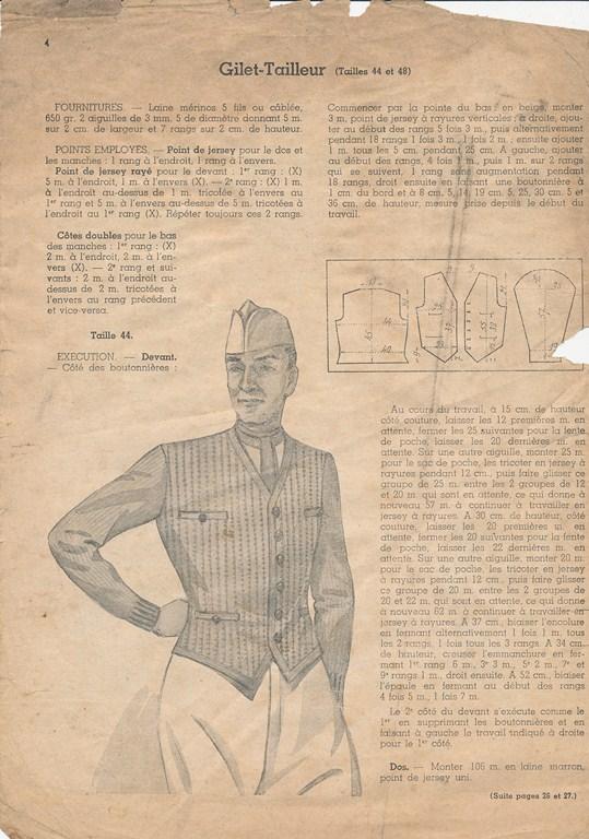Magazine de tricots de 1939 pour les soldats Tricot10