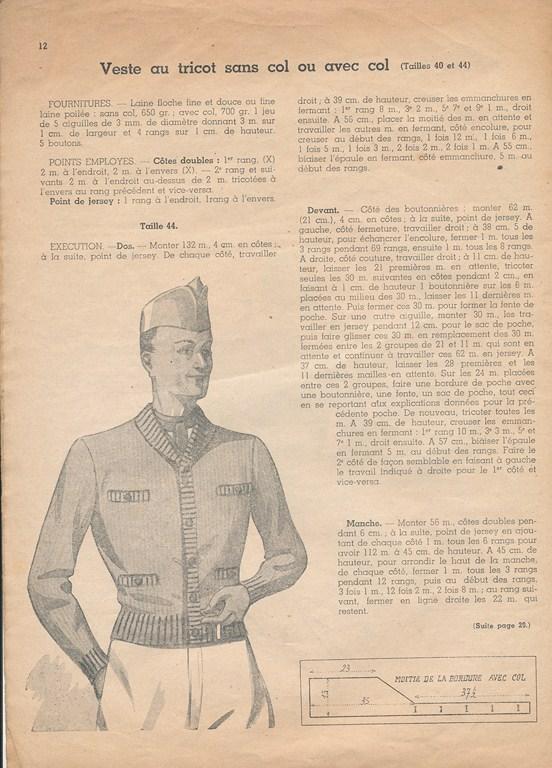 Magazine de tricots de 1939 pour les soldats Tricot11