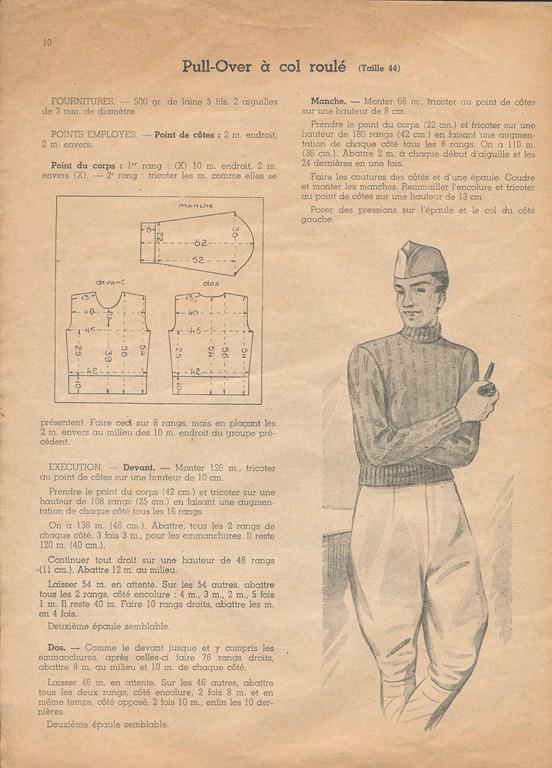 Magazine de tricots de 1939 pour les soldats Tricot12
