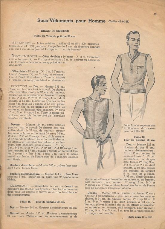 Magazine de tricots de 1939 pour les soldats Tricot13