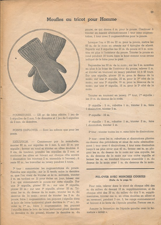 Magazine de tricots de 1939 pour les soldats Tricot14