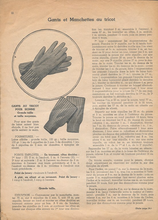 Magazine de tricots de 1939 pour les soldats Tricot15