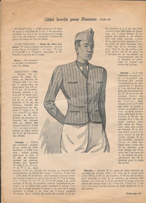 Magazine de tricots de 1939 pour les soldats Tricot17