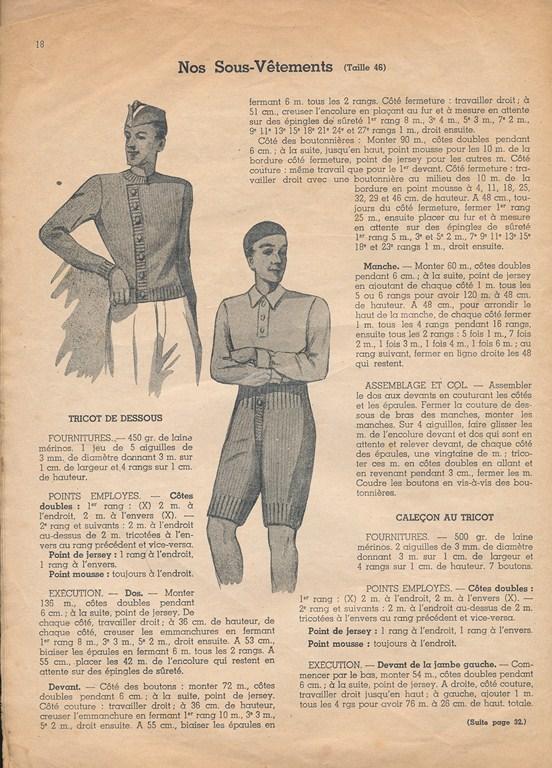 Magazine de tricots de 1939 pour les soldats Tricot18