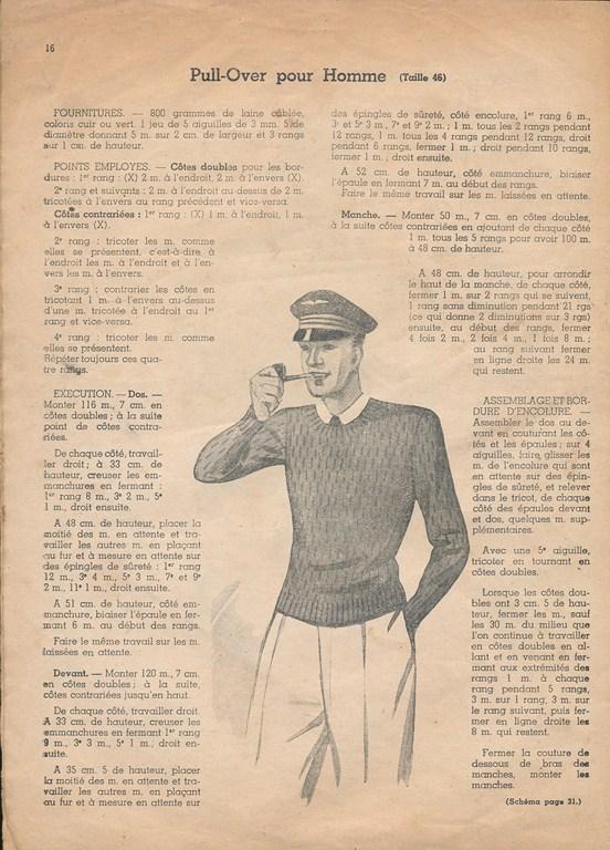 Magazine de tricots de 1939 pour les soldats Tricot19
